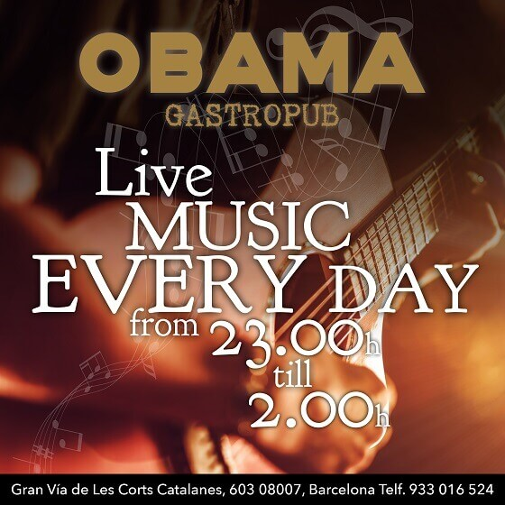 live music obama pub