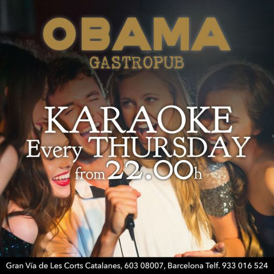 karaoke in barcelona obama