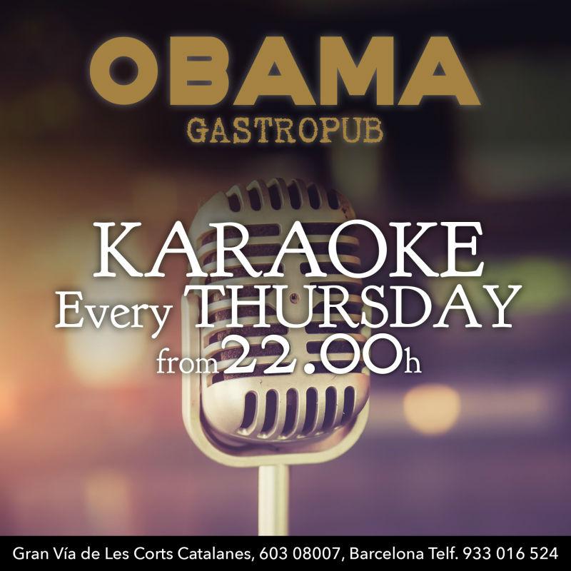 karaoke at obama bcn